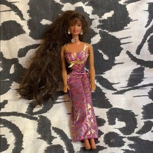 Brown hair Barbie kids doll toy